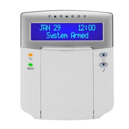 Teclado de LCD Paradox K32LCD+ cableado de 32 zonas