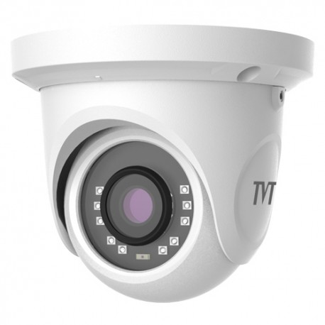 Domo TVT 4en1 ( HDCVI, HDTVI, AHD, CVBS ) 2Mpx 1080P IR20m 0Lux . Lente 2.8mm. IP66